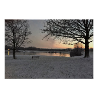 Winter Sunset at Core Creek Poster