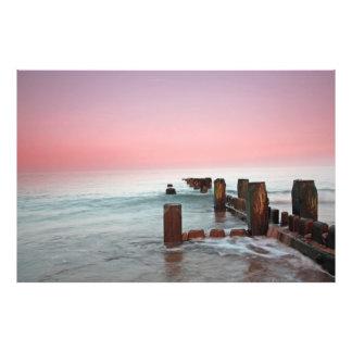 """Winter sunset at the beach"" Photo"