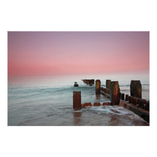 """""""Winter sunset at the beach"""" Poster"""
