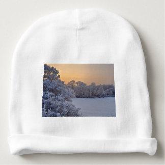 Winter sunset baby beanie