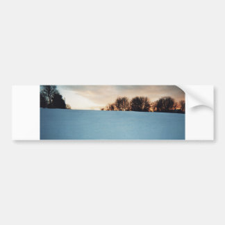 Winter Sunset Bumper Sticker