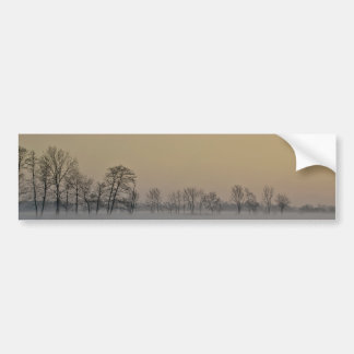 Winter Sunset Bumper Sticker