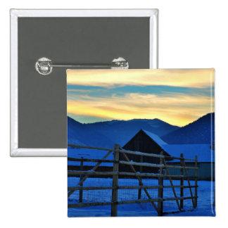 Winter sunset button