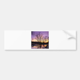 Winter Sunset Cades Cove Mountains Bumper Sticker