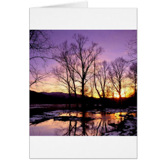 Winter Sunset Cades Cove Mountains Card