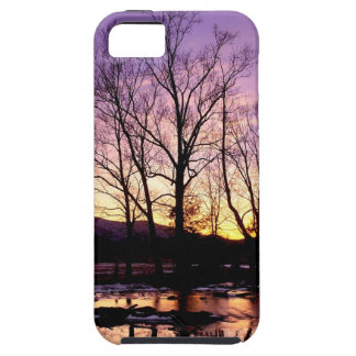 Winter Sunset Cades Cove Mountains iPhone 5/5S Covers