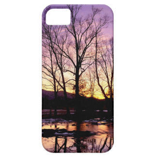 Winter Sunset Cades Cove Mountains iPhone 5/5S Cases