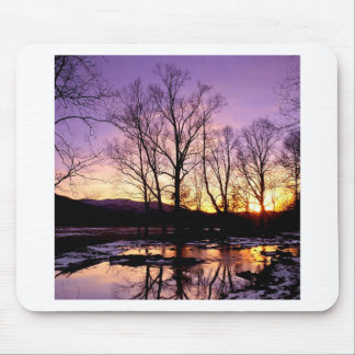 Winter Sunset Cades Cove Mountains Mouse Pad