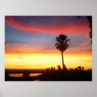 Winter sunset in Redondo Beach Poster