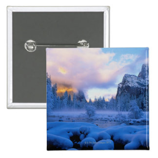 Winter Sunset in Yosemite National Park Button