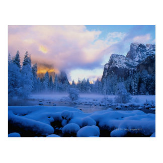 Winter Sunset in Yosemite National Park Postcard