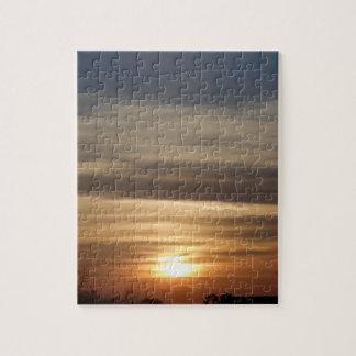Winter Sunset Jigsaw Puzzle