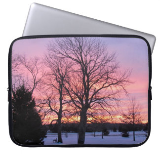 Winter sunset laptop sleeve