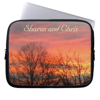 Winter Sunset Laptop Sleeve *personalize*