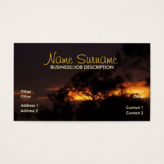Winter Sunset Mood Business Card