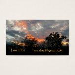 Winter Sunset Nature Landscape Photography Business Card