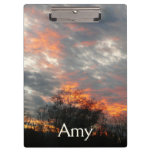 Winter Sunset Nature Landscape Photography Clipboard