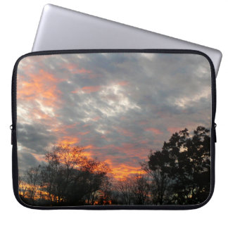 Winter Sunset Nature Landscape Photography Computer Sleeve