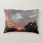 Winter Sunset Nature Landscape Photography Decorative Pillow