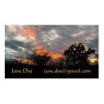 Winter Sunset Nature Landscape Photography Double-Sided Standard Business Cards (Pack Of 100)