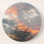 Winter Sunset Nature Landscape Photography Drink Coaster