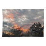 Winter Sunset Nature Landscape Photography Kitchen Towel