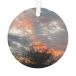 Winter Sunset Nature Landscape Photography Ornament