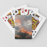 Winter Sunset Nature Landscape Photography Playing Cards