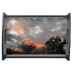 Winter Sunset Nature Landscape Photography Serving Tray