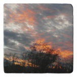 Winter Sunset Nature Landscape Photography Trivet