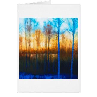 Winter Sunset on Lake Siljan Card