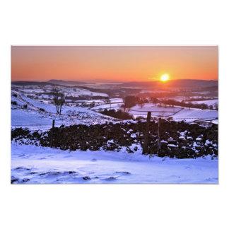 Winter sunset on The Helm Kendal Cumbria Photo Art