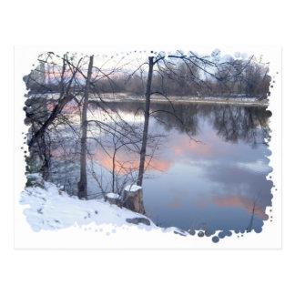Winter Sunset on the Rideau Postcard