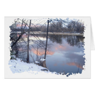 Winter Sunset on the Rideau River Card