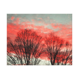 Winter Sunset Stretched Canvas Print