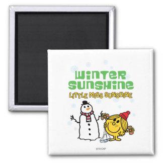 Winter Sunshine 2 Inch Square Magnet