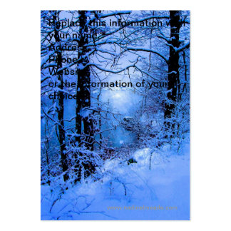 Winter Sunspot Across Lake Large Business Cards (Pack Of 100)