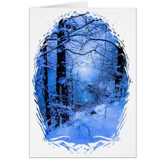 Winter Sunspot Across Lake Card