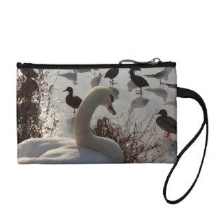 winter swan coin purse