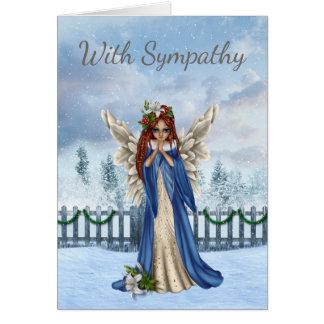 Winter Sympathy Card with Angel