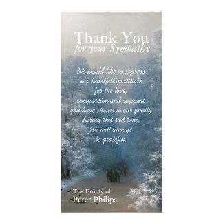 Winter Sympathy Thank You Photo Card