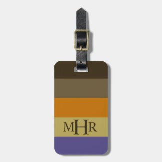 Winter Table Palette Stripes Monogram Bag Tag