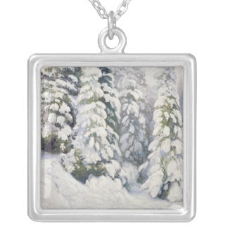 Winter Tale, 1913 Silver Plated Necklace