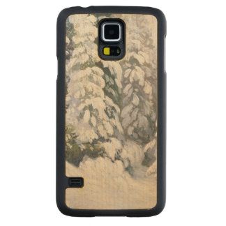 Winter Tale, 1913 Carved® Maple Galaxy S5 Slim Case