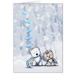 Winter Terriers Greeting Card