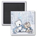 Winter Terriers Magnet