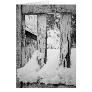 Winter Textures, Warm Words Greeting Card