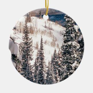 Winter The Calm Before The Storm Brighton Utah Ceramic Ornament