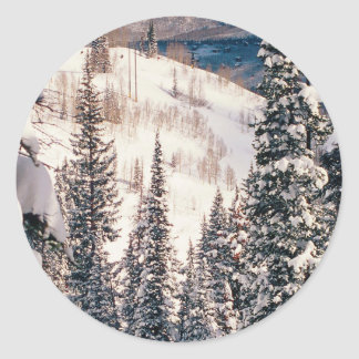 Winter The Calm Before The Storm Brighton Utah Classic Round Sticker