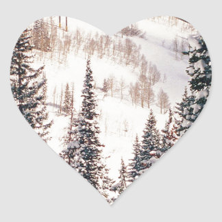Winter The Calm Before The Storm Brighton Utah Heart Stickers